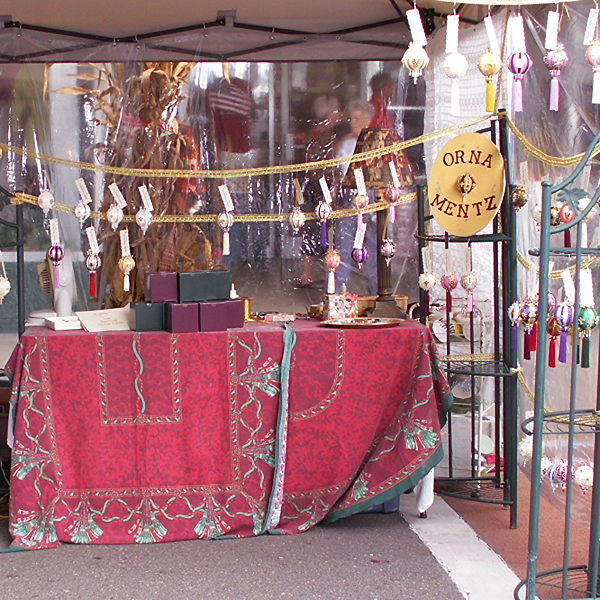 Orna Mentz booth photo at the Autumn Leaves Festival in Mt. Airy, North Carolina